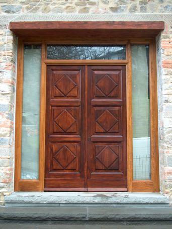 Portone ingresso in rovere su disegno porte per esterno - Porte per esterno ...