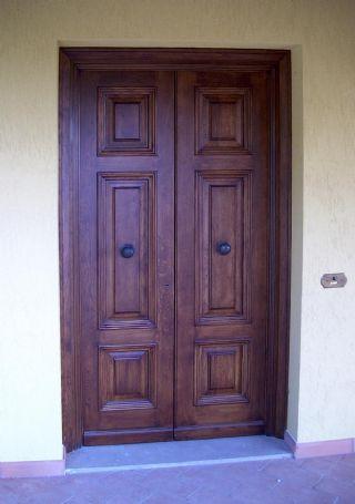 Portoncino ingresso a due ante in rovere porte e - Portoncini ingresso prezzi ...