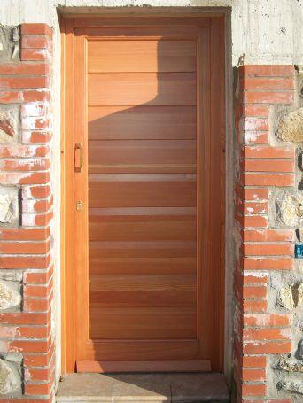 Portoncino ingresso a doghe in larice porte e portoncini - Porte usate per esterno ...